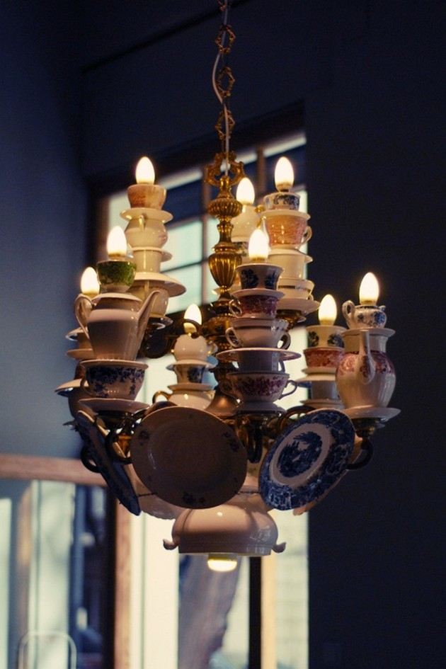 Teacup and Teapot Chandelier