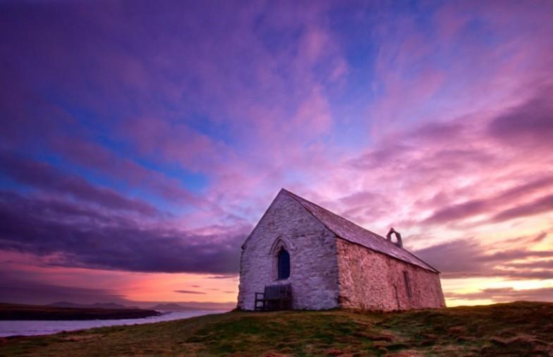 'St Cwyfan's Sunset' – Porth Cwyfan, Aberffraw