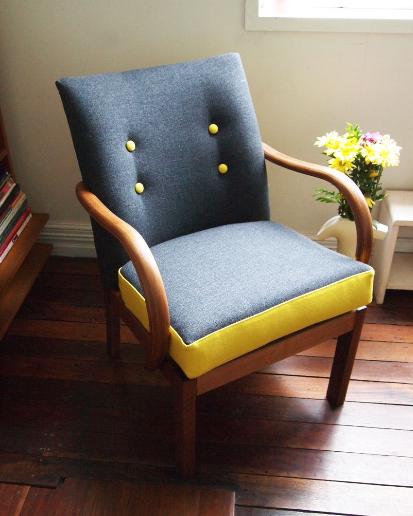 Top 10 Budget-Friendly DIY Projects For Your Home - Upholstered Chair Image From Flourishandblume.blogspot.co.uk