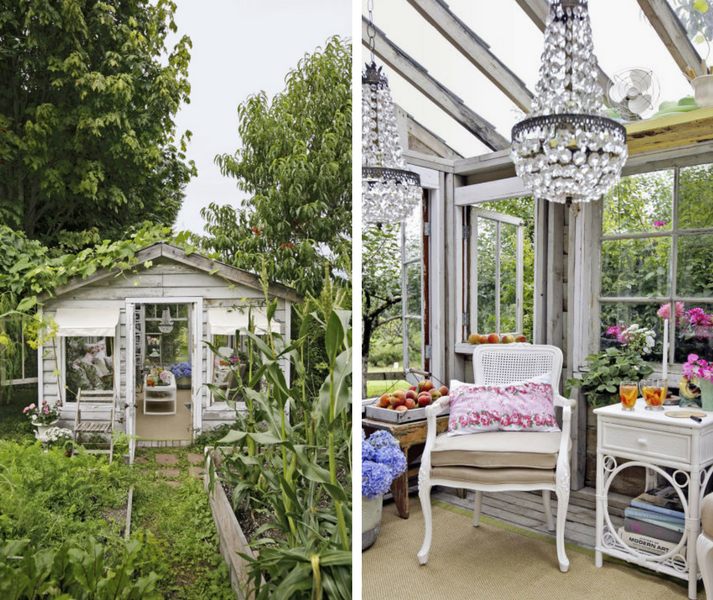 10 Entertaining Ways To Use Your Garden Room- Image From housebeautiful.com - BY Jill Kirchner Simpson