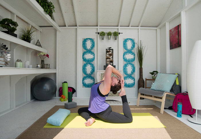 10 Entertaining Ways To Use Your Garden Room - Yoga Room
