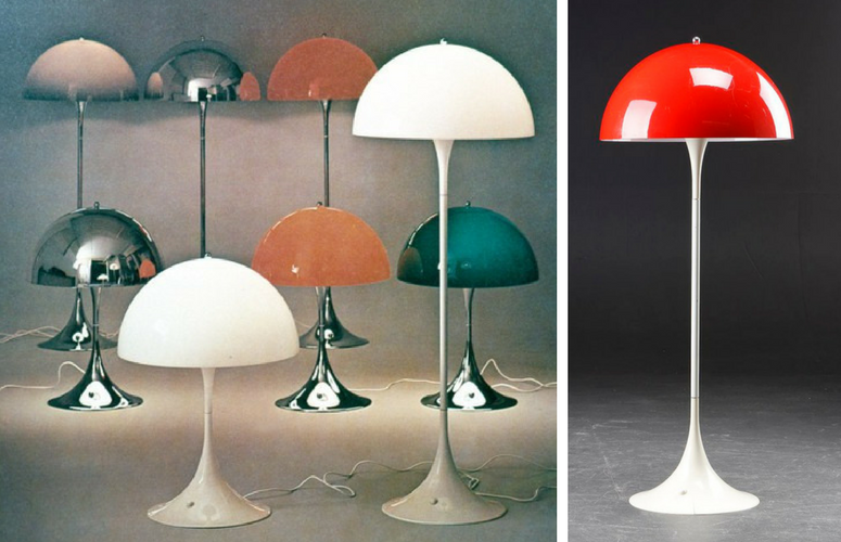 Iconic Lighting Designs - Verner Panton Mushroom Lamp