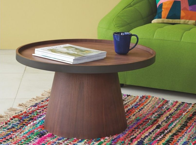 How To Transform Your Living Space With The Dark Wood Trend - BRODI Walnut Coffee Table With Removable Tray Top - Habitat