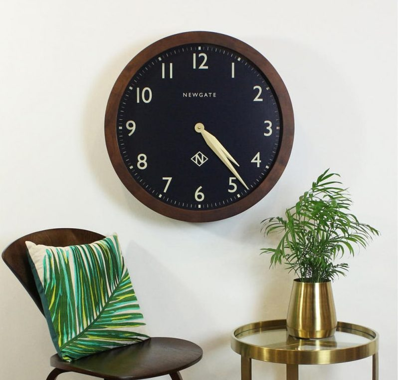 How To Transform Your Living Space With The Dark Wood Trend - Image From John Lewis - Newgate Billingsgate Oversized Wood Wall Clock
