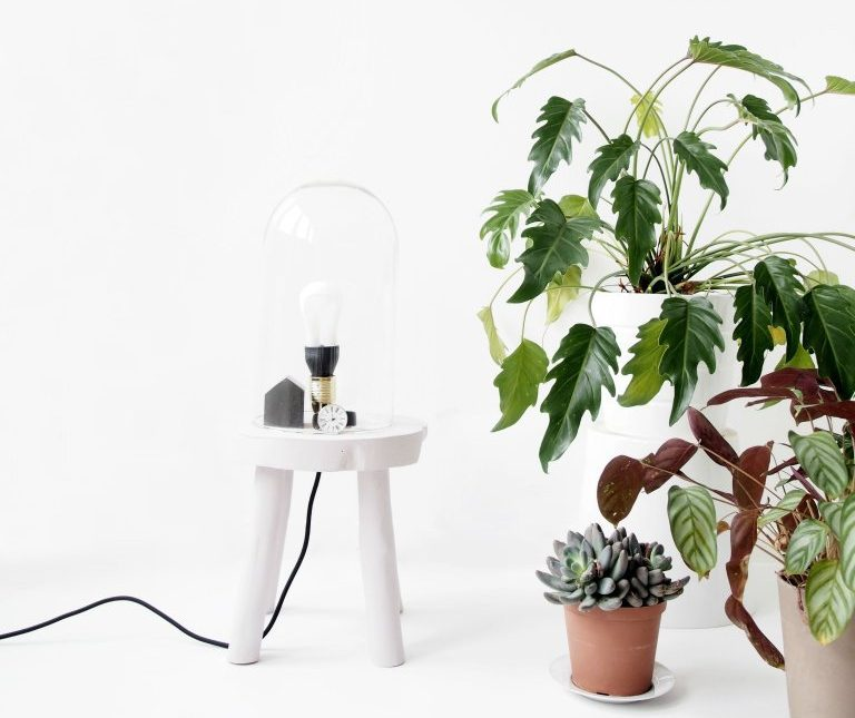 What You Need To Know About Decorating Small Spaces - Plants and DIY Lamp Stool By Monsters Circus