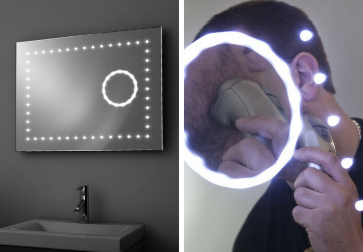 Modern Transformations In Bathroom Mirrors - Magnifying LED Mirror - From Illuminated Mirrors
