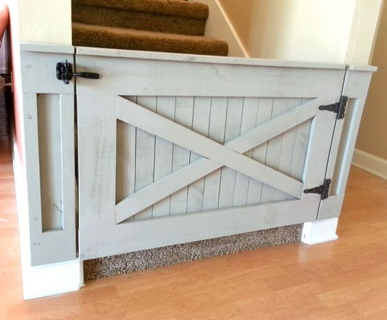 How To Design A Dog Friendly Home - Dog Stair Gate - Image Via Etsy - NoLineDesigns