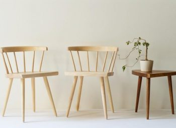 Living Room Furnishings With Ecological Tradition - White Ash Windsor Chair - Image From Solid Bench