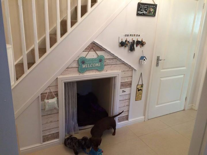 How To Design A Dog Friendly Home - Under The Stairs Dog Bed