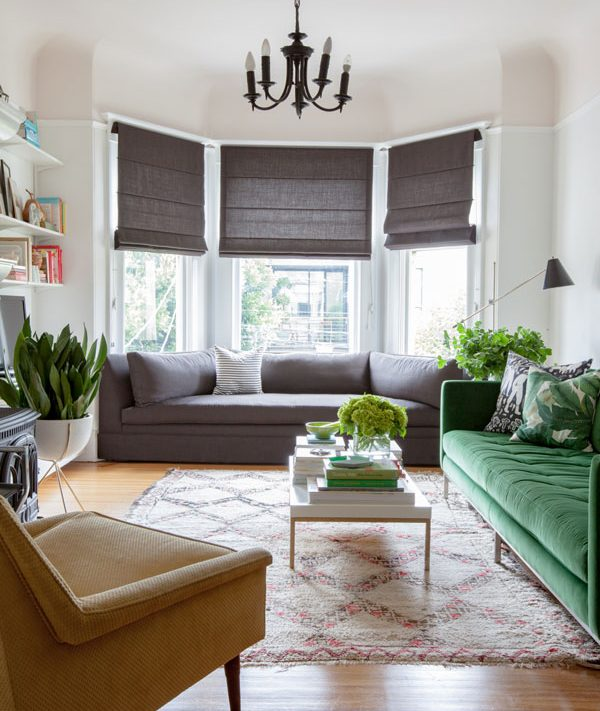 What Are The Main Types Of Window Treatments? - Roman Blinds - Image Via Oh Happy A Day