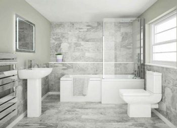 5 Big Bathroom Ideas For Small Spaces. Image From - VictoriaPlum.com