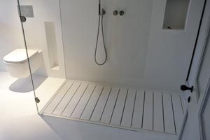 Corian vs Granite - Shower Room Image From UniqueFabrications.co.uk
