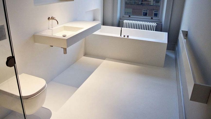 Corian vs Granite -  Bathroom Image From UniqueFabrications.co.uk
