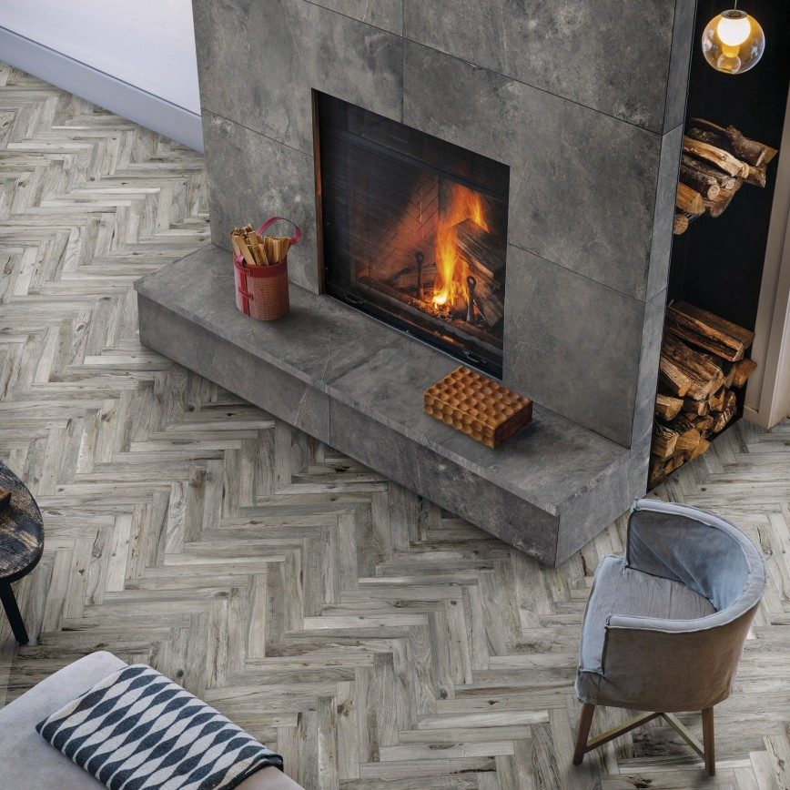 Five Benefits Of Wood Effect Tiles (And How To Style Them) - Parquet Wood Effect Tiles - Image Via CrownTiles.co.uk