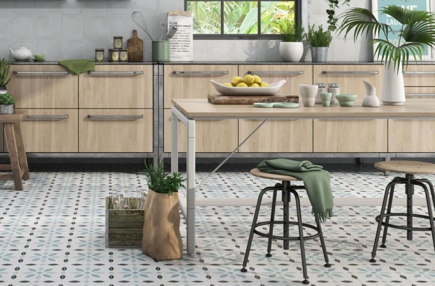 How To Maximise A small Space With Clever Floor Tile Tricks - Denia Blue Porcelain Wall & Floor Tiles