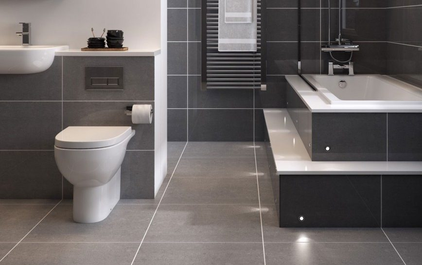 How To Maximise A small Space With Clever Floor Tile Tricks - Super Polished Dark Grey Porcelain Floor Tiles
