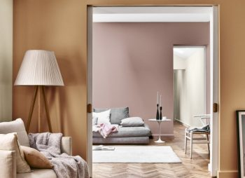 4 Painting Tips For Beginners - Image Via Dulux.co.uk: Colours = Gentle Moon Heart Wood, Spiced Honey