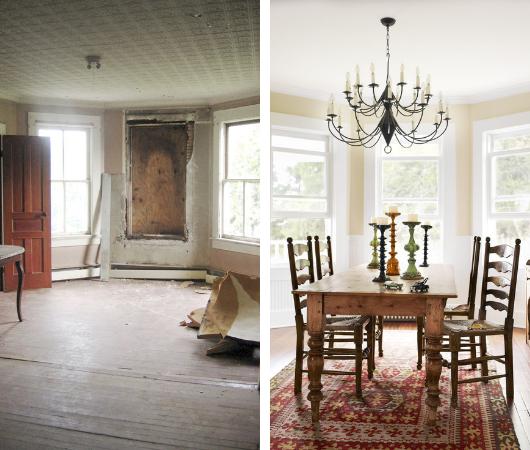Planning Your Home Renovation Project - Lisa and Mark Hellman 106 Year Old House Renovation - Upstate New York - Images Via countryliving.com (Credit Anson smart)