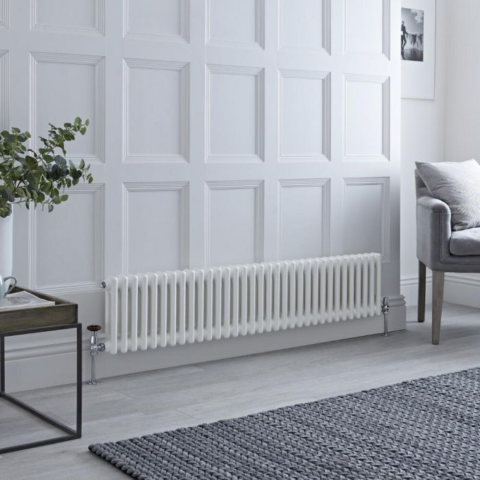 White Traditional Cast Iron Style Radiator - Image Via: BestHeating.com