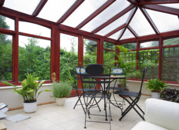 Conservatory with plants