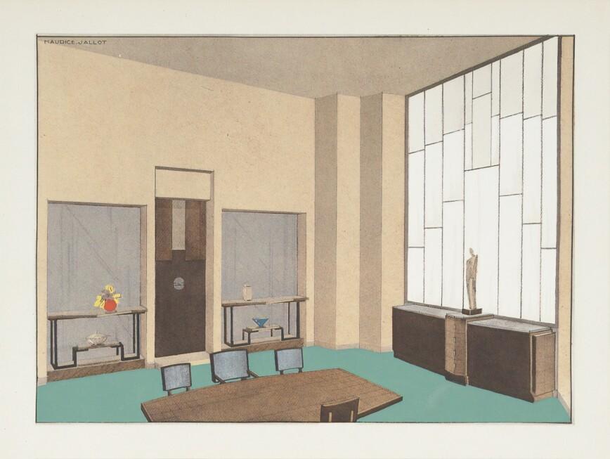 Illistrated Art Deco Interior Design