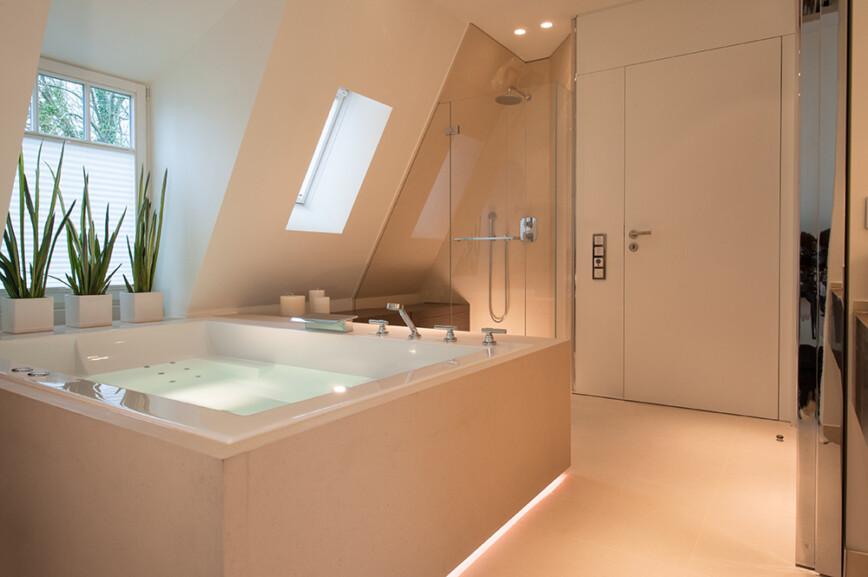 LED lit bathroom